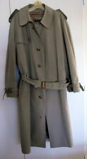 VTG Khaki Brooks Brothers Single Breasted Removable Lining Raincoat 40L w/Belt