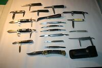Vintage collection of pocket knives 19 as a lot, Imperial, Buck, Western,M.Klein