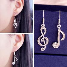 New Asymmetric Musical Temperament Music Note Drop Dangle Dangler Hook Earrings