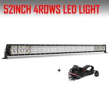10D 52 INCH 6272W LED CREE WORK LIGHT BAR FLOOD SPOT TRUCK OFFROAD 4X4WD 42/50''