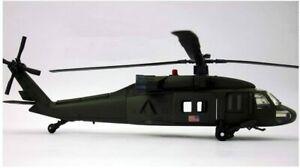 Model Helicopter Sikorsky UH-60 Black Hawk US Army 1/60 Metal And Plastic