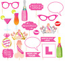 20Pc Wedding Hen Party Photo Booth Selfie Props Set Party Girls Night Accessory