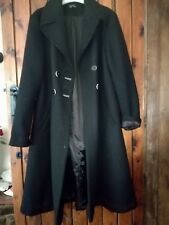 TOPSHOP Black double breasted Winter Coat Size 16