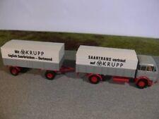 1/87 Brekina Krupp LF 960 Frontlenker Hängerzug 2/2 SAARTRANS SB-Dortmund