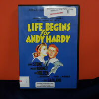 Life Begins For Andy Hardy DVD Ex library free ship Mickey Rooney Judy Garland