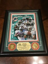 Miami Dolphins Two 24K Gold Coins #6 Of 2010 Photo Limited Edition NFL Y4