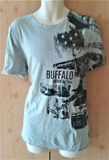 Gray T-shirt  Size L  Buffalo David Button
