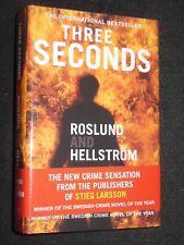 SIGNED; Roslund & Hellstrom - Three Seconds (2010-1st) Swedish Crime Novel - HB