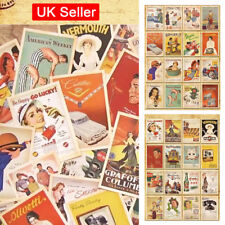 32pcs Lot Vintage Postcards Advertising Bulk Retro Cards Collection Posters inUK