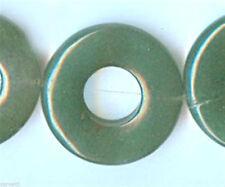 25mm Green Aventurine Donut Beads (4) FOUR Beads