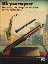 Skyscraper for Clarinet, Alto Saxophone & Piano Score & Parts Music Book Sax