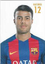 Postal postcard 12 RAFINHA, jugador/player  FC BARCELONA 16/17 (10,5x15 cms)