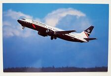 British Airways Boeing 737-4Q8 Postcard