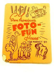 San Francisco's Foto Fun House Original Post WWII Souvenir Photo and Holder