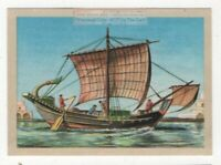 Roman Sailors Sailing Wine Grain Merchant Ship  Vintage Ad Card