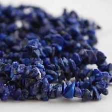 "Grade A Semi - Precious Gemstone Lapis Lazuli Beads Chips 36"""
