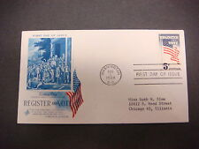 First Day of Issue,FDC,1964 Voting Day,Register And Vote,Washinton,D.C., 5c