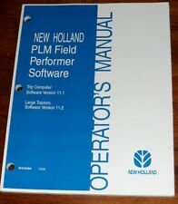 New Holland PLM Field Performer Software Operators Manual