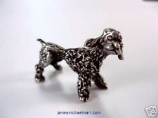 Poodle Dog 3D Pewter Animal
