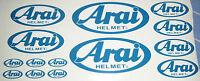 14 x Arai Helm Vinyl Aufkleber Grafik Karting Motorsport- MOTORRADFAHREN
