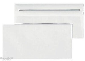 Envelope din Long White Without Window Self Adhesive Umschlag Kouvert