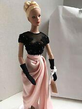 "TONNER 16"" Vinyl Doll ""Fleurs du mal"" in Gown,Gloves,Shoes & Stand, Missing Hat"