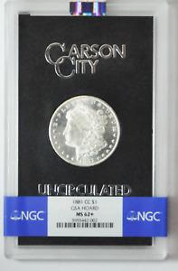 1881 CC $1 Morgan Silver One Dollar GSA Hoard NGC MS62+ Carson City