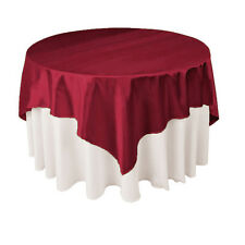 145x145cm Square Satin Tablecloth / Table Cover Overlay Polyester Fabric Party