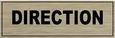 1 plaque aluminium brossé Signalétique de porte- DIRECTION