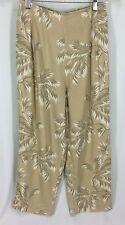 Globe Trotter Clothing Of Bali Multi Color Capri Pants 100% Rayon Womens S