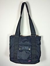 Authentic Belstaff Small Shopping Bag Pearl Black Zippered Top Belflex Nylon NWT