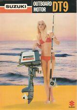 Vintage Suzuki Outboard Motor DT9 Leaflet 1970s? Genuine Original