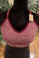 VS PINK ultimate lightly lined sport bra NEW size MED.~ NWT~ Marbled Burgundy