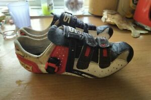 SIDI MILLENNIUM 3 III CARBON SOLE CYCLING SHOES WITH CLEATS, 44 UK 9.5, VGC