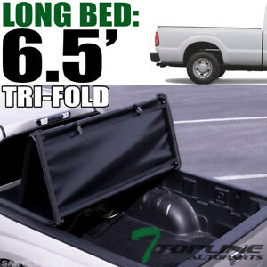 Topline For 1999-2016 Ford F250/F350 6.5' Bed Tri Fold Soft Vinyl Tonneau Cover