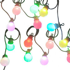 Colour Changing LED Festoon Lights, multi-colour Christmas fairy lights by Qbis