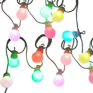 Colour Changing LED Festoon Lights, multi-colour Christmas fairy lights by Qbis