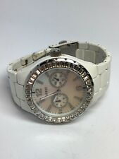 Guess Ladies Multifunction Quartz Watch With Pearl Face Stainless Steel