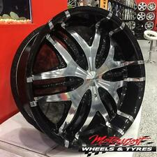 ANZ NOKTURNAL BLACK 20X8.5 HOLDEN FITMENT WHEELS AND TYRES