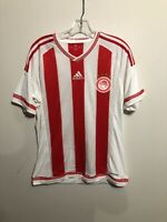 adidas OLYMPIAKOS MEN'S FOOTBALL JERSEY RED WHITE GREEK M CLIMACOOL