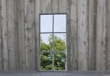 ANTIQUE UPCYCLED CAST IRON WINDOW MIRROR INDUSTRIAL ref 1097