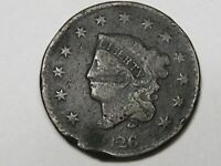 1826 US Coronet Head Large Cent Coin.  #170