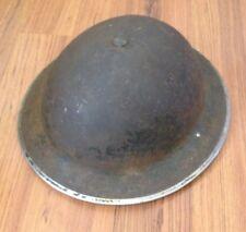 ORIGINAL WW2 BRITISH ARMY HELMET WITH LINER DATED 1938 / 39