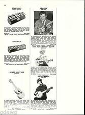1956 ADVERT Emenee Howdy Doody Uke Ukuleles Toy Gene Autry Cowboy Guitar