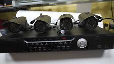 Set Full HD 4CH DVR 720P Videoüberwachungsystem Set DVR Recorder + 4 st Kamera