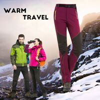 Winter Outdoor Hiking Ski Sports Softshell Thermal Warm Snow Pants Trousers