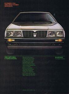 1984 Advertisement - MASERATI BITURBO TWIN TURBO