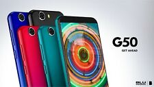 BLU G50 Unlocked Android Dual SIM Cell Phone 5.5'' Display 32GB Memory  New