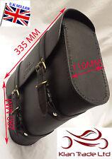 Royal Enfield Silla De Cuero Herramienta + Kit De Montaje Maletero logotipo bag-black
