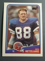PETE METZELAARS 1988 TOPPS FOOTBALL CARD # 226 B9668